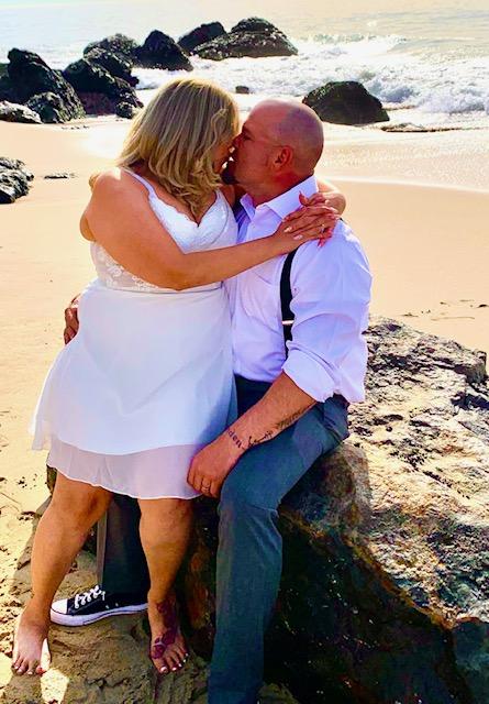wedding elopement at the beach